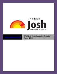 SBI Clerk Exam Reasoning Question Paper