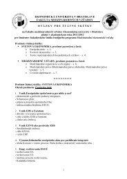 Otázky na bakalárske štátne skúšky platné pre akademický rok 2011 ...