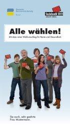 Die Wahlvorankündigung - Basis ... - Sozialwahl 2011