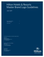 Hilton Hotels & Resorts Master Brand Logo Guidelines