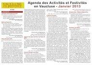 Agenda Janvier2013 - Un coin Tranquille en Provence L'OUSTAOU ...