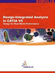 Design-Integrated Analysis in CATIA V5