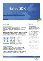 SALES SDK BENEFITS - ERP2mobile
