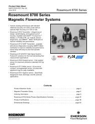 Rosemount 8700 Series Magnetic Flowmeter Systems - Emerson ...