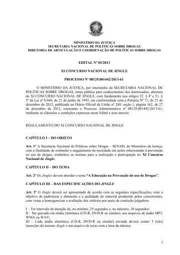 XI Concurso Nacional de Jingle - Observatório Brasileiro de ...