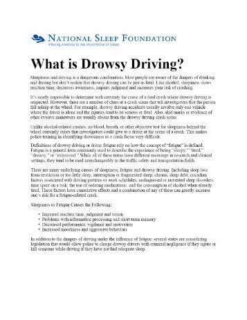 17b Driving Drowsiness webinfo National Sleep Foundation - GiiC