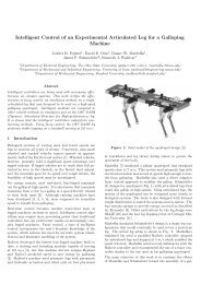 Intelligent Control of an Experimental Articulated Leg for a Galloping ...