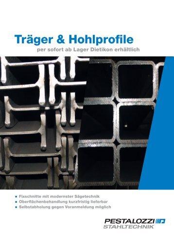 Träger & Hohlprofile - Pestalozzi + Co AG