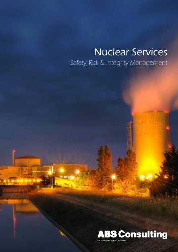 Nuclear Services Overview Brochure - ABS Consulting