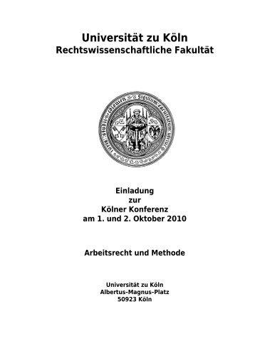 Kölner Konferenz Arbeitsrecht und Methode