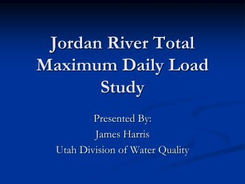 Jordan River TMDL Study