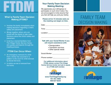 FAMILY TEAM - The Village Family Service Center