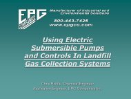 Using Electric Submersible Pumps and Controls In Landfill Gas ...