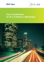 Power Considerations for 2G & 3G Modules in MID Designs - Option