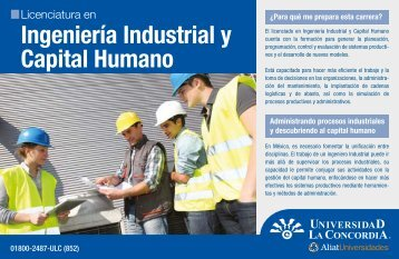 Ingeniería Industrial y Capital Humano - Universidad La Concordia