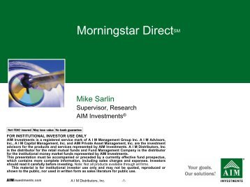 AIM Allocation Solutions - Morningstar