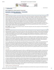 Data management in clinical research: An overview - the Research ...