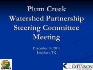 Presentation (View) - Plum Creek Watershed Partnership