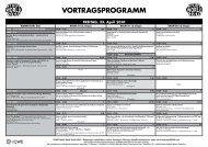 VORTRAGSPROGRAMM - WiWi-Online