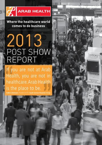 Download Arab Health 2013 Post-show report - IIR Middle East