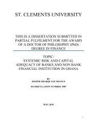 risk factors - St Clements University