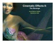 Cinematic Effects II: