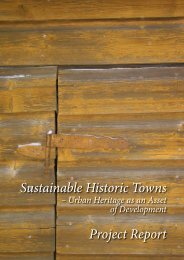 Sustainable Historic Towns Project Report - The Baltic Sea Region ...