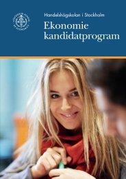 Hämta broschyren... - Handelshögskolan i Stockholm