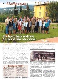 The Jacuzzi family celebrates 30 years at Jason International