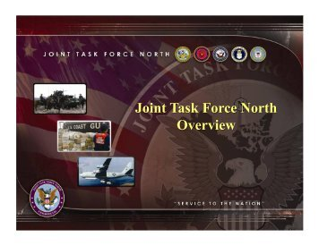 1989 National Defense Authorization Act - Joint Task Force North