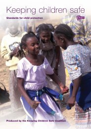 Keeping Children Safe: Standards for Child Protection - INEE