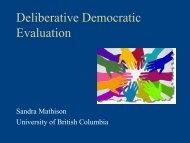 Deliberative Democratic Evaluation - Fraser Health