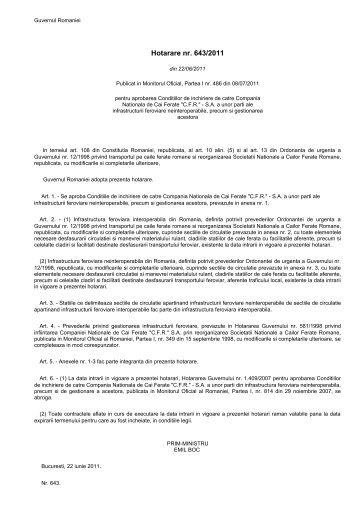HG nr. 643 din 2011.pdf - autoritatea feroviara romana
