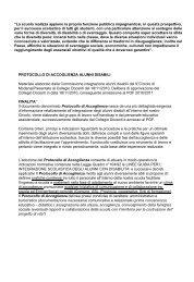 protocollo integrazione alunni disabili del 9° circolo - Dd9modena.it