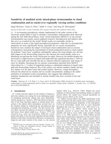 Sensitivity of modeled arctic mixed-phase stratocumulus to cloud ...