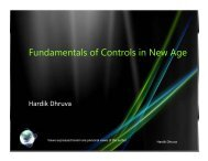 Fundamentals of Controls in New Age