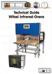 Technical Guide Witzel Infrared-Ovens