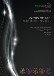 GSA Report on Policy Practitioners - Public Sector Commission