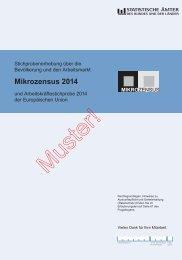 Erhebungsbogen Mikrozensus und Arbeitskräftestichprobe der EU