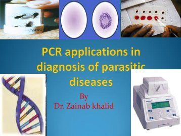 PCR applications in diagnosis of parasitic diseases