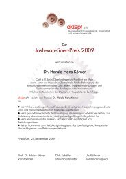 Josh-von-Soer-Preis 2009 - akzept e.V.