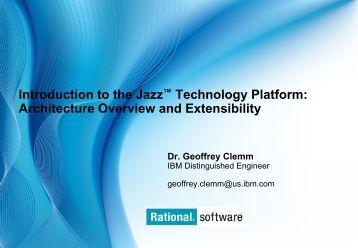 Introduction to the Jazz™ Technology Platform ... - lotus.co.kr - IBM