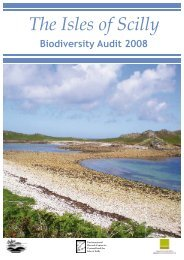 The Isles of Scilly Biodiversity Audit 2008 - Cornwall Wildlife Trust
