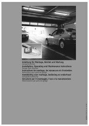 Anleitung für Montage, Betrieb und Wartung Installation, Operating ...