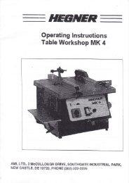 HEGNER Accura MK4 Manual - Advanced Machinery