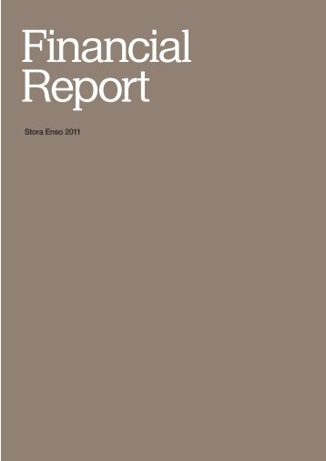 Stora Enso Financial Report 2011