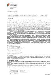 Regulamento de Apoio aos Agentes Culturais - Direcção Regional ...
