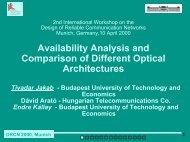 DRCN 2000, Munich 1 Availability Analysis and Comparison of ...