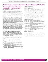 PreConference Courses • Saturday & Sunday, February 9 ... - AAEM