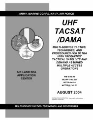 uhf tacsat /dama multi-service tactics, techniques, and procedures ...